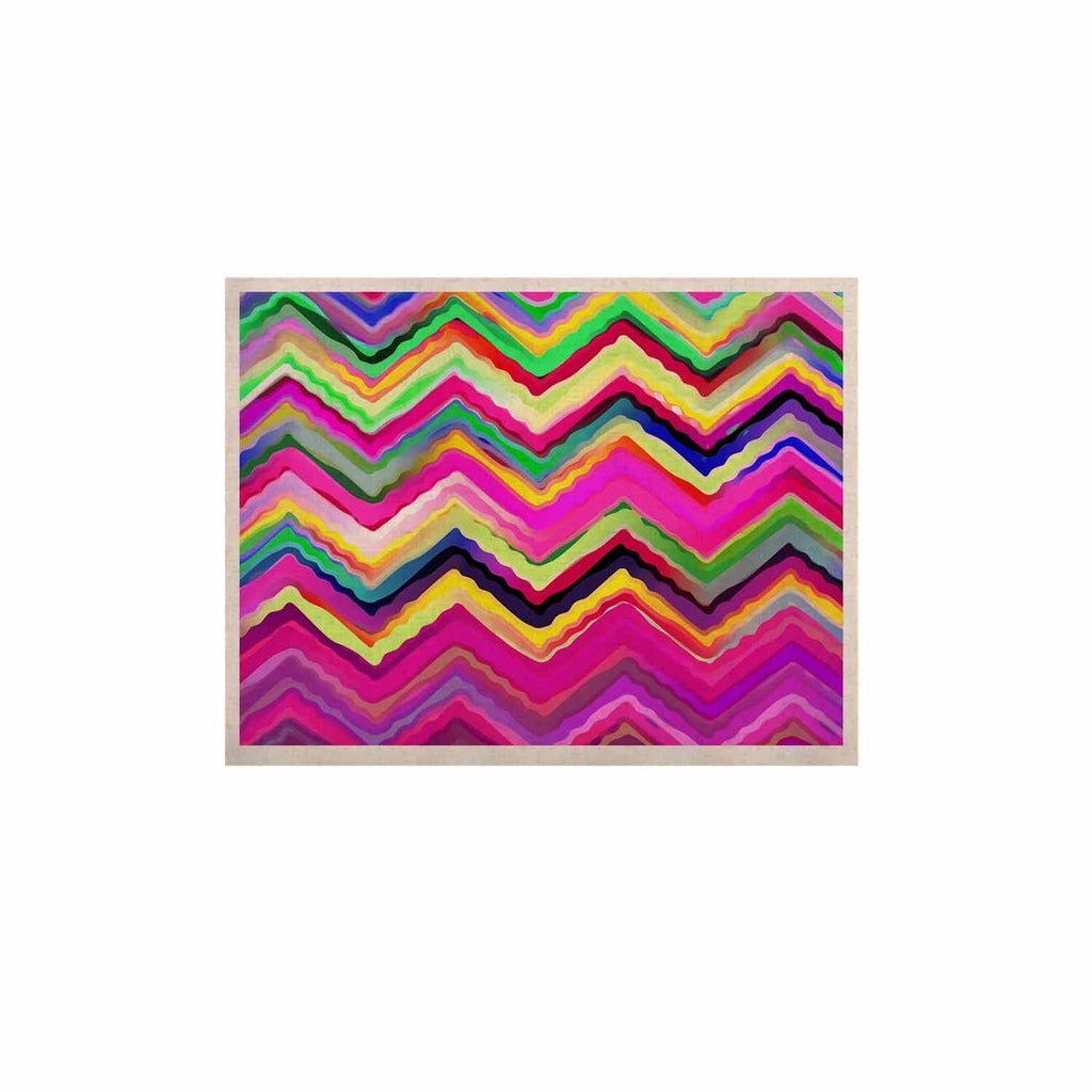 "Dawid Roc ""Colorful Chevron"" Purple Pink KESS Naturals Canvas (Frame not Included) - KESS InHouse  - 1"