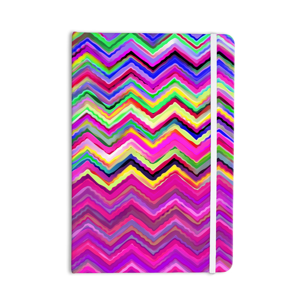 "Dawid Roc ""Colorful Chevron"" Purple Pink Everything Notebook - KESS InHouse  - 1"