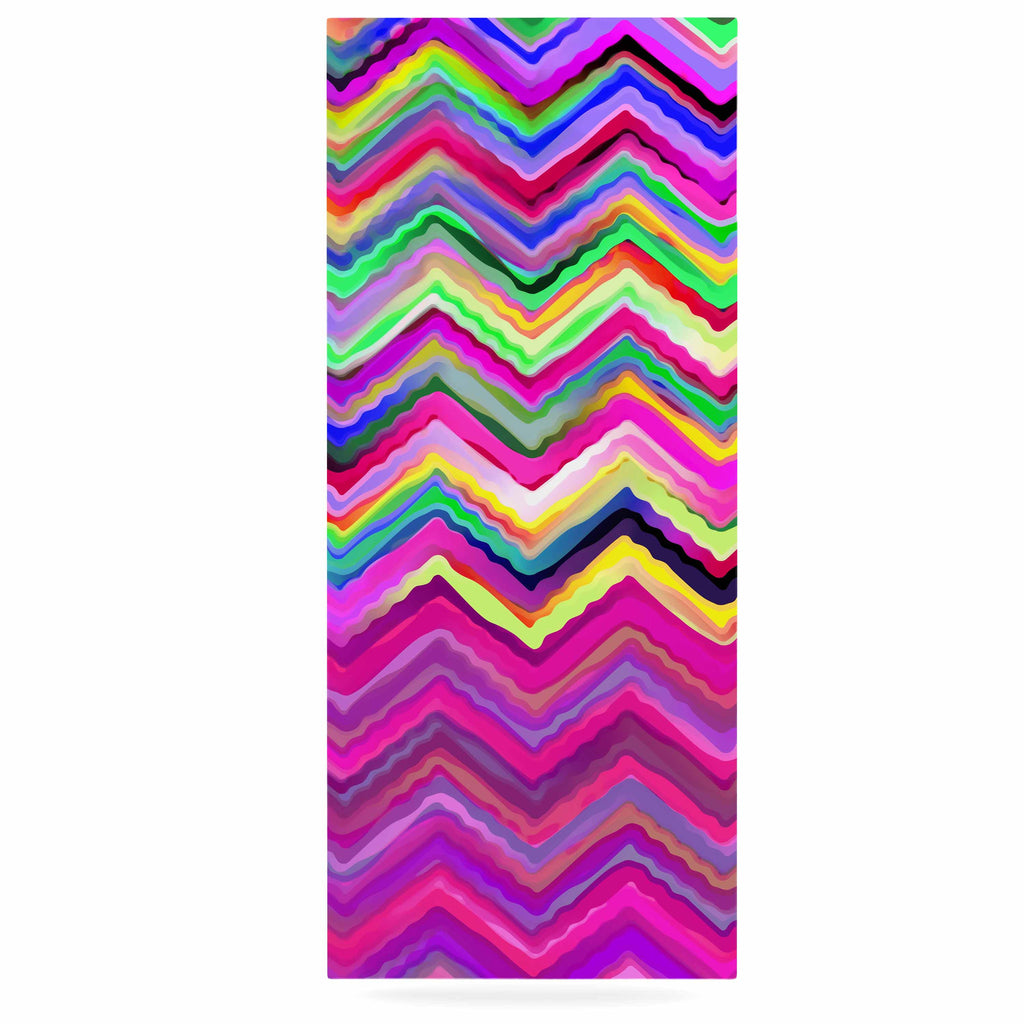"Dawid Roc ""Colorful Chevron"" Purple Pink Luxe Rectangle Panel - KESS InHouse  - 1"