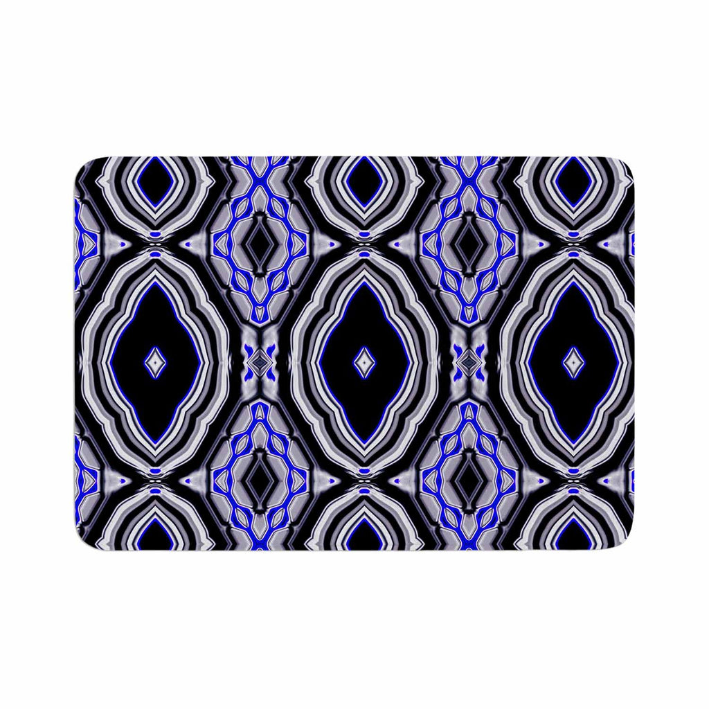 "Dawid Roc ""Inspired By Psychedelic Art 3"" Purple Abstract Memory Foam Bath Mat - KESS InHouse"