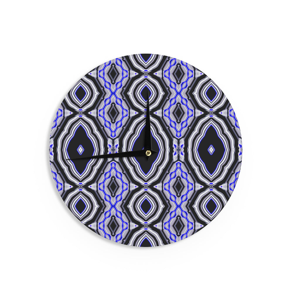 "Dawid Roc ""Inspired By Psychedelic Art 3"" Purple Abstract Wall Clock - KESS InHouse"