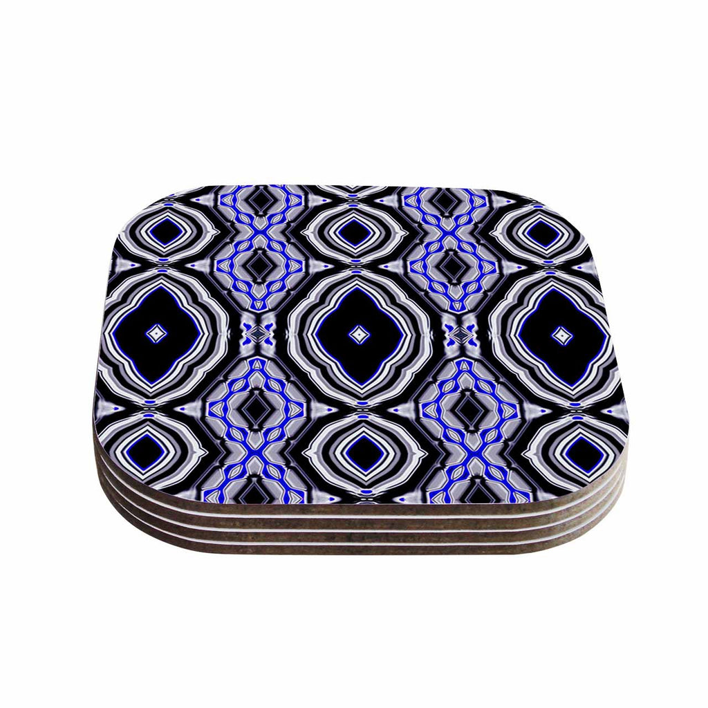 "Dawid Roc ""Inspired By Psychedelic Art 3"" Purple Abstract Coasters (Set of 4)"
