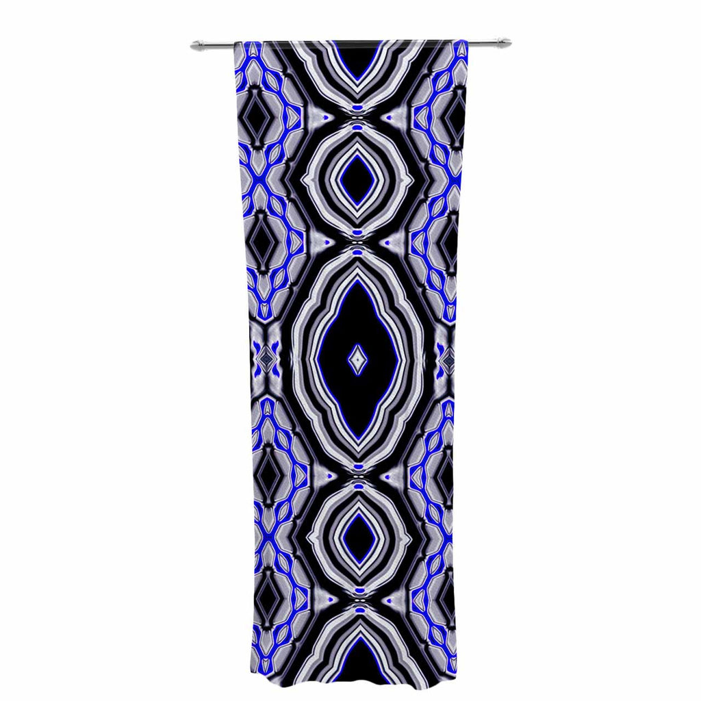 "Dawid Roc ""Inspired By Psychedelic Art 3"" Purple Abstract Decorative Sheer Curtain - KESS InHouse  - 1"