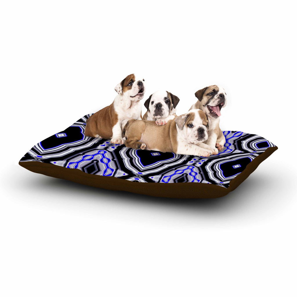 "Dawid Roc ""Inspired By Psychedelic Art 3"" Purple Abstract Dog Bed - KESS InHouse  - 1"