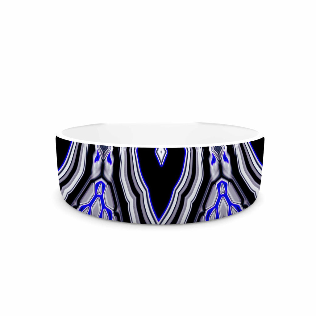 "Dawid Roc ""Inspired By Psychedelic Art 3"" Purple Abstract Pet Bowl - KESS InHouse"