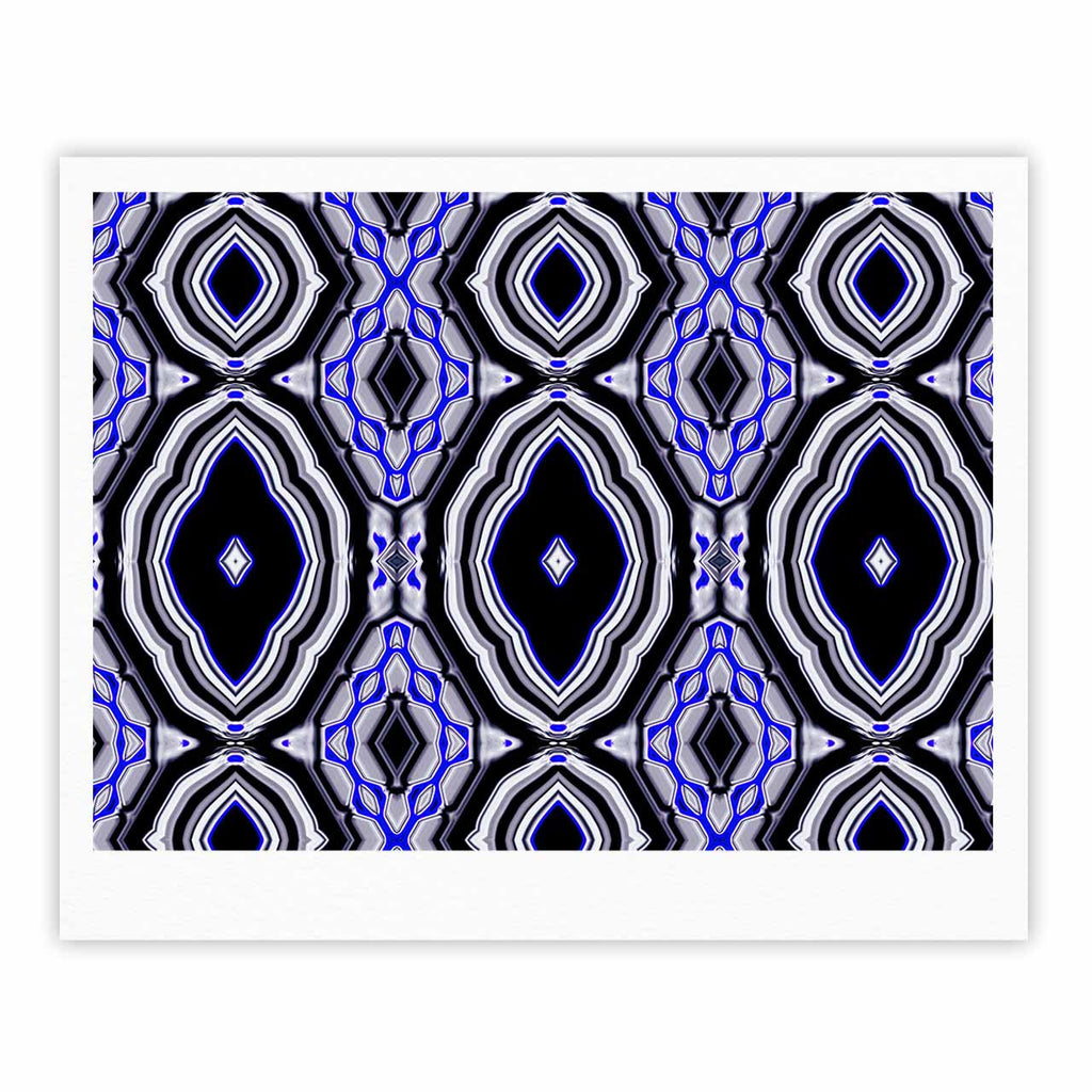 "Dawid Roc ""Inspired By Psychedelic Art 3"" Purple Abstract Fine Art Gallery Print - KESS InHouse"