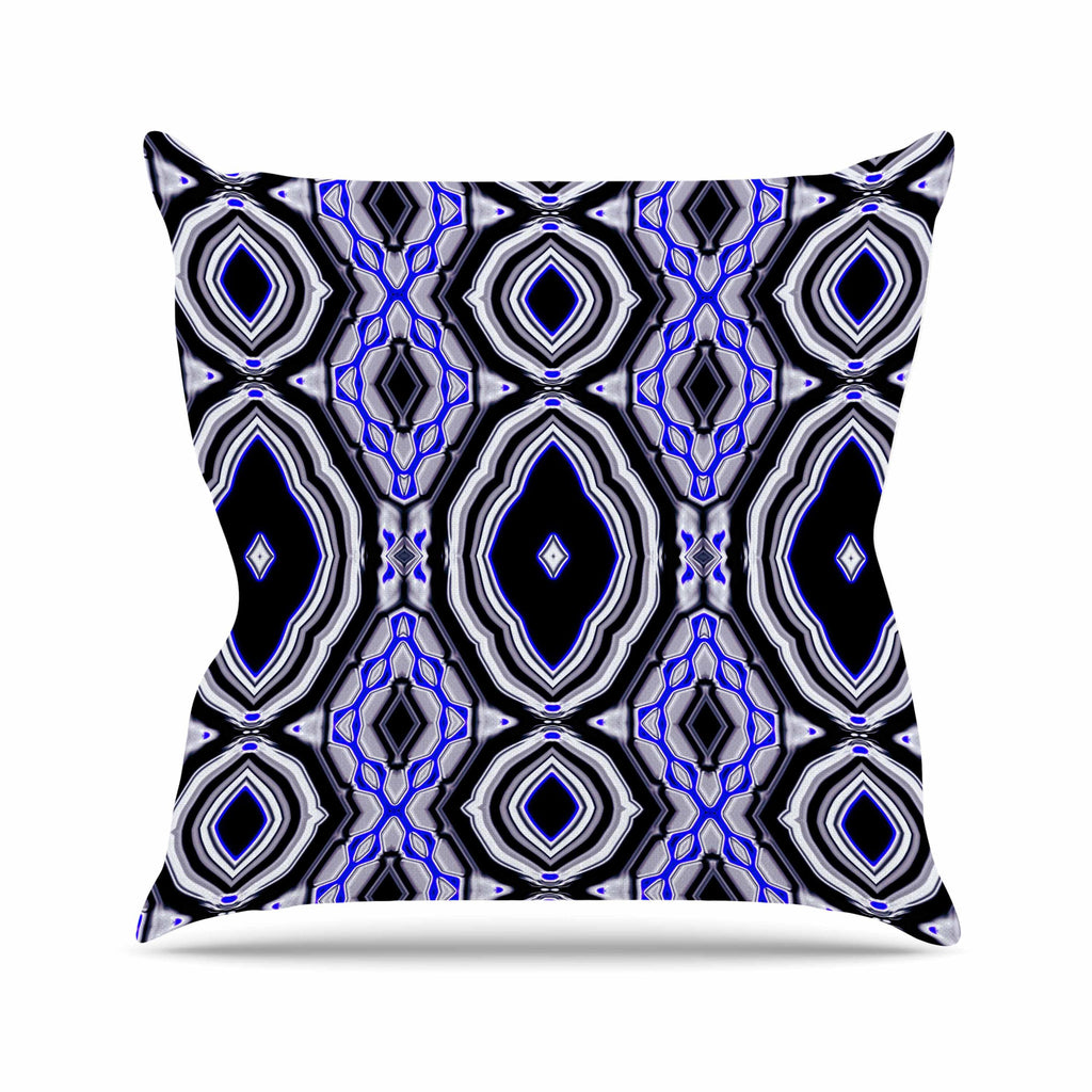 "Dawid Roc ""Inspired By Psychedelic Art 3"" Purple Abstract Outdoor Throw Pillow - KESS InHouse  - 1"
