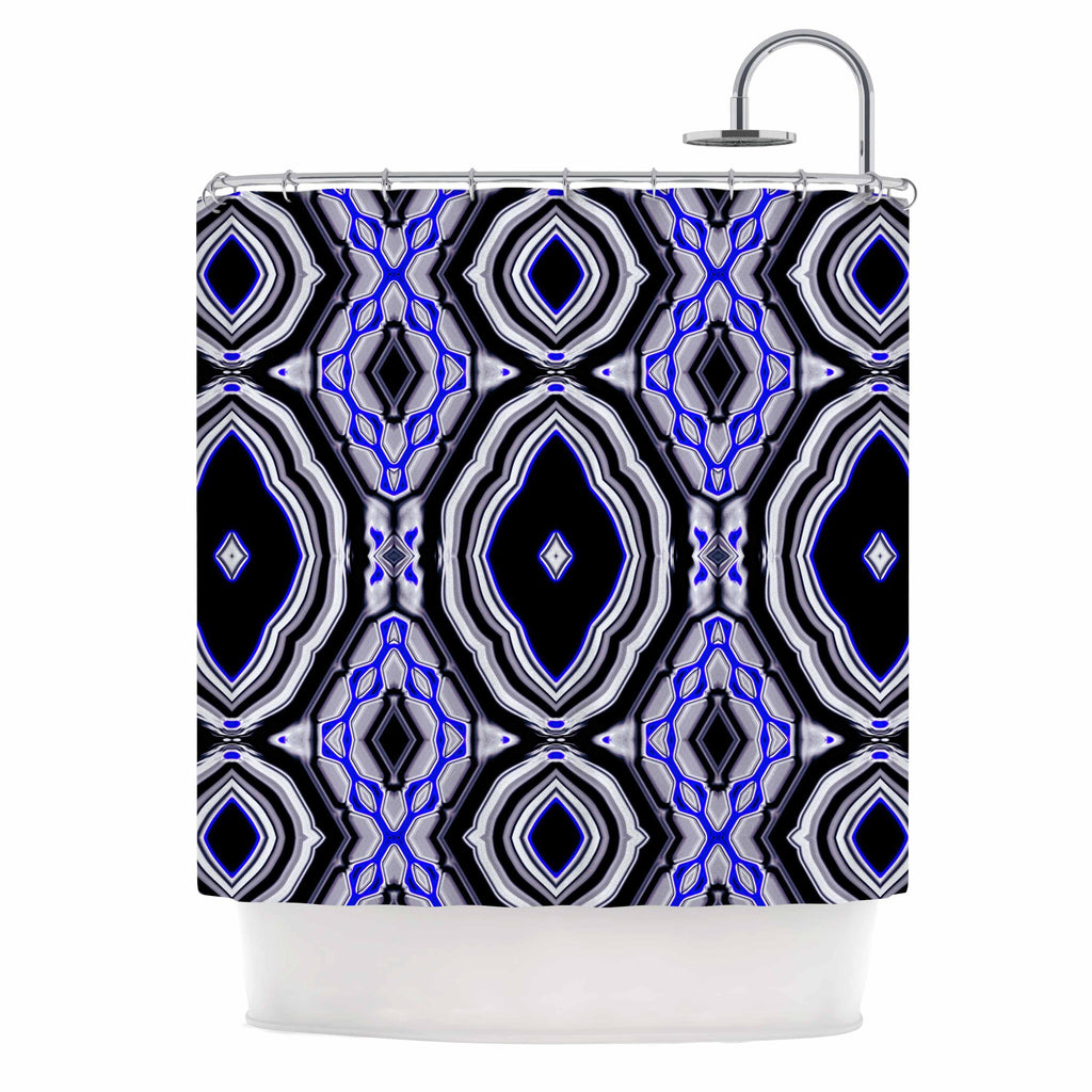 "Dawid Roc ""Inspired By Psychedelic Art 3"" Purple Abstract Shower Curtain - KESS InHouse"