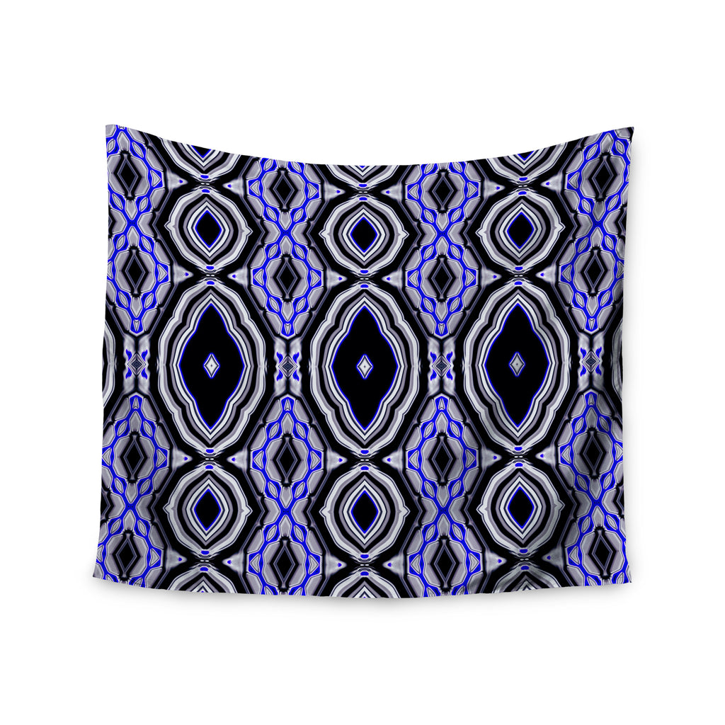 "Dawid Roc ""Inspired By Psychedelic Art 3"" Purple Abstract Wall Tapestry - KESS InHouse  - 1"