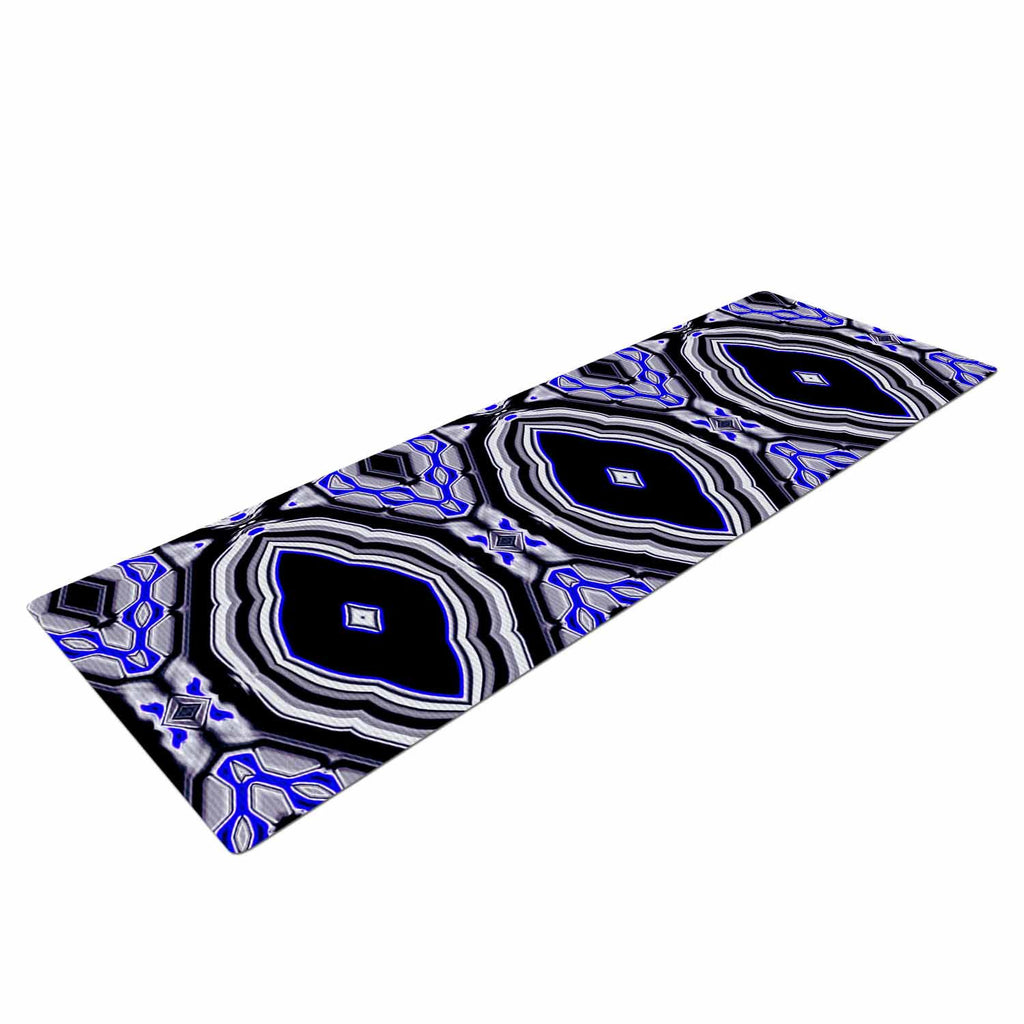 "Dawid Roc ""Inspired By Psychedelic Art 3"" Purple Abstract Yoga Mat - KESS InHouse  - 1"