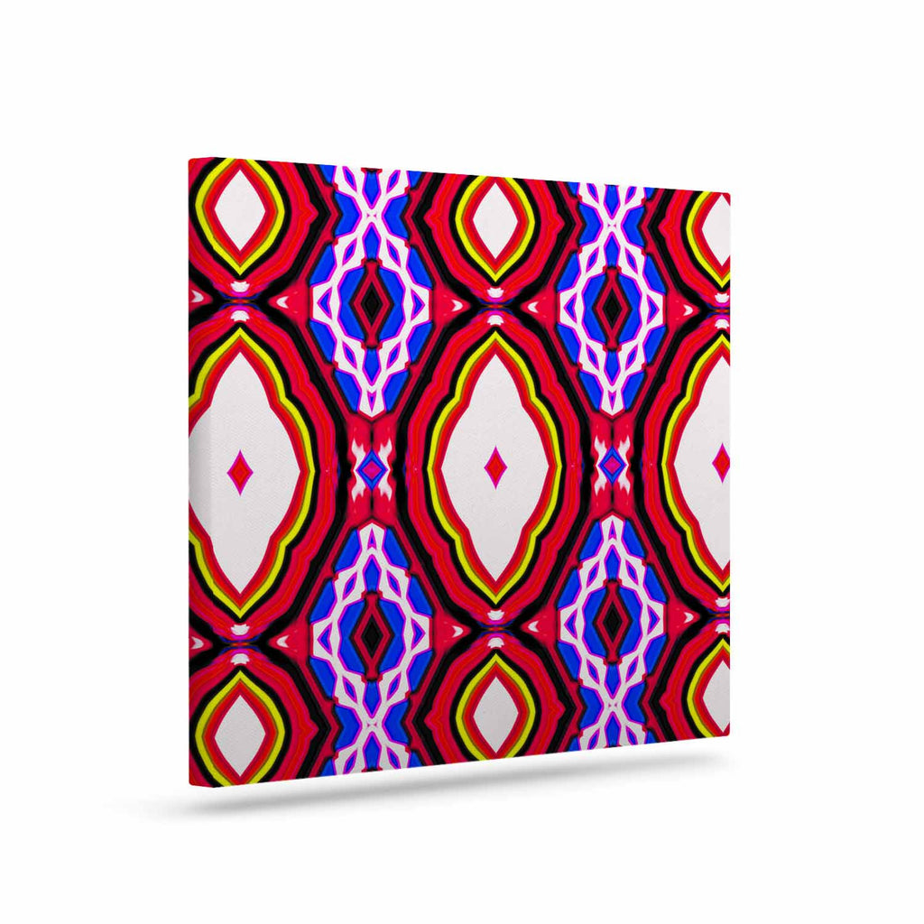 "Dawid Roc ""Inspired By Psychedelic Art 2""  Red Abstract Canvas Art - KESS InHouse  - 1"