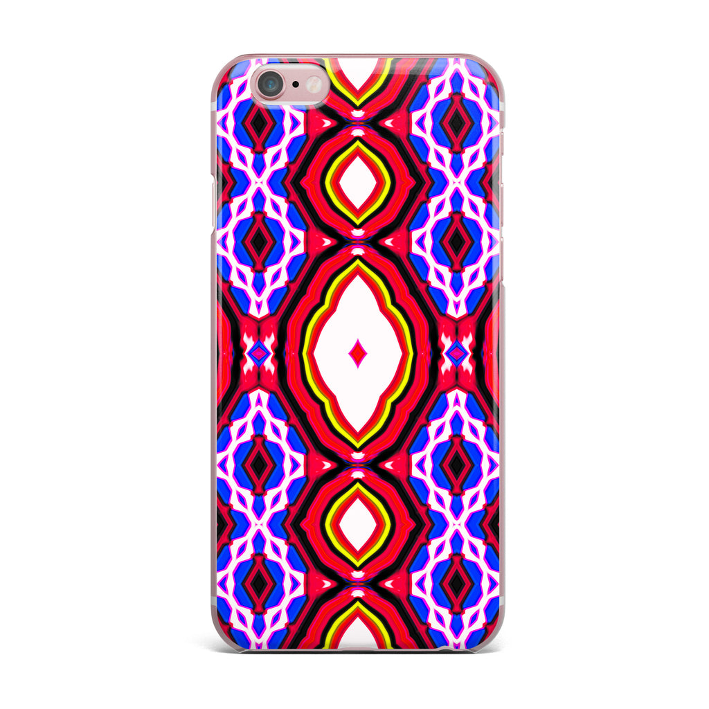 "Dawid Roc ""Inspired By Psychedelic Art 2""  Red Abstract iPhone Case - KESS InHouse"