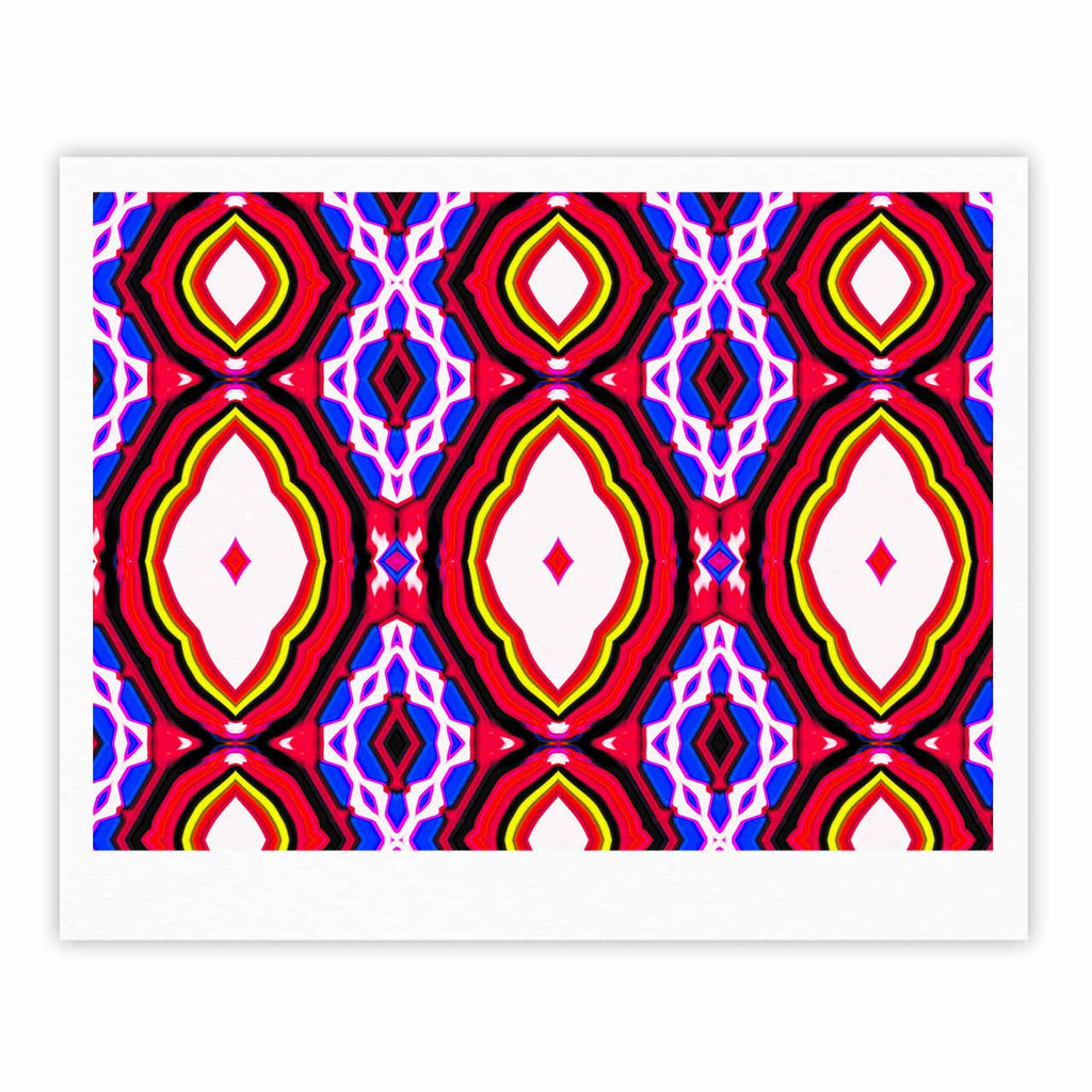 "Dawid Roc ""Inspired By Psychedelic Art 2""  Red Abstract Fine Art Gallery Print - KESS InHouse"