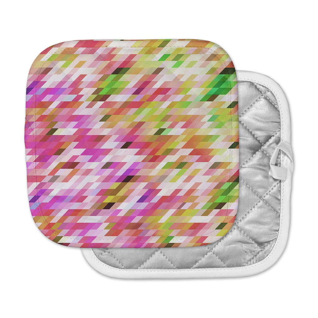 "Dawid Roc ""Spring Summer Geometric"" Pastel Digital Pot Holder"