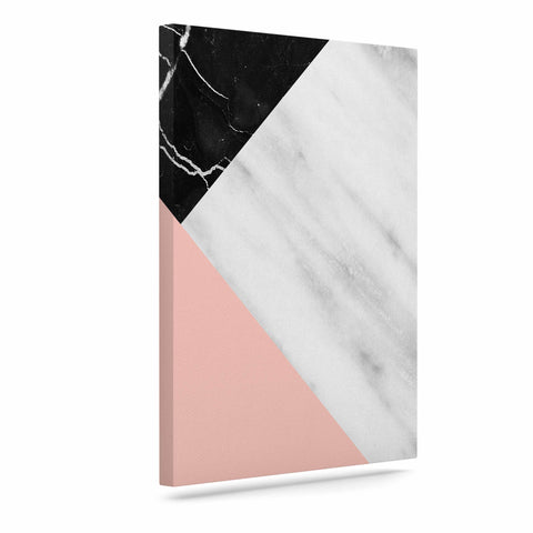 "Cafelab ""Marble Collage With Pale Pink ""  Gray Pink Canvas Art - KESS InHouse  - 1"
