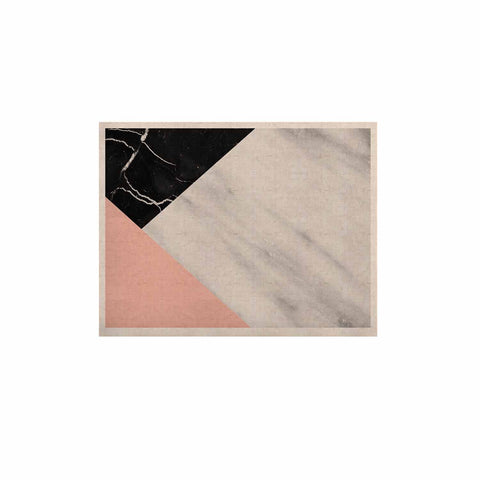 "Cafelab ""Marble Collage With Pale Pink ""  Gray Pink KESS Naturals Canvas (Frame not Included) - KESS InHouse  - 1"