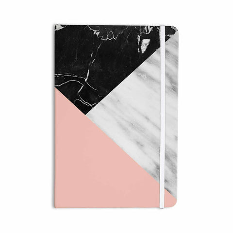 "Cafelab ""Marble Collage With Pale Pink ""  Gray Pink Everything Notebook - KESS InHouse  - 1"