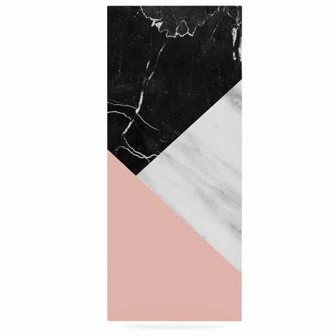 "Cafelab ""Marble Collage With Pale Pink ""  Gray Pink Luxe Rectangle Panel - KESS InHouse  - 1"