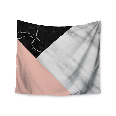 "Cafelab ""Marble Collage With Pale Pink ""  Gray Pink Wall Tapestry - KESS InHouse  - 1"