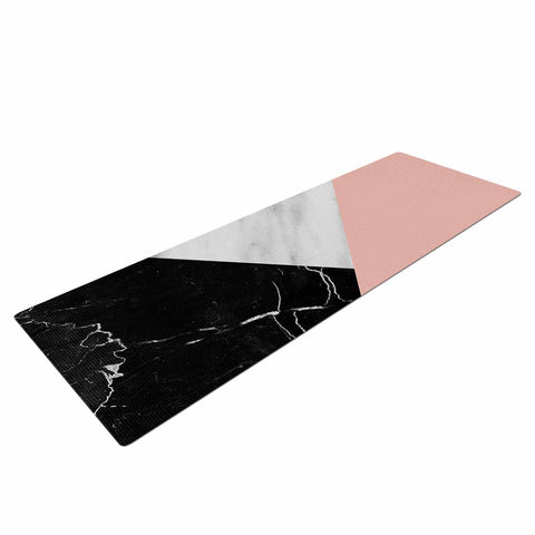 "Cafelab ""Marble Collage With Pale Pink ""  Gray Pink Yoga Mat - KESS InHouse  - 1"