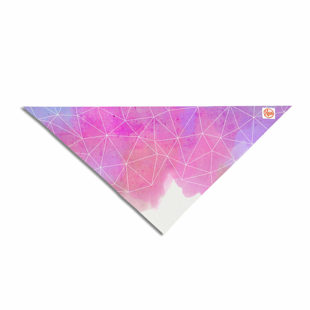"Cafelab ""Spring Shadows"" Purple Pastel Pet Bandana - Outlet Item"