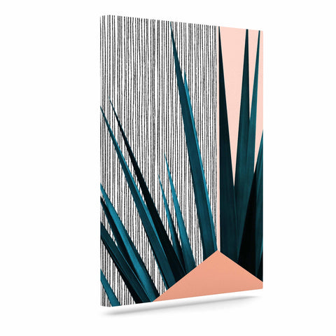 "Cafelab ""Summer Geometry "" Blue Coral Canvas Art - KESS InHouse  - 1"