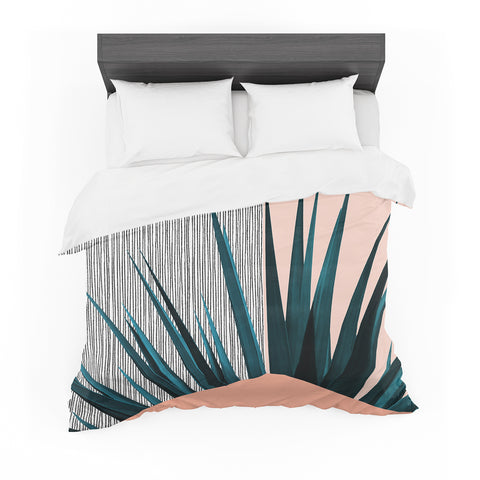 "Cafelab ""Summer Geometry "" Blue Coral Featherweight Duvet Cover"
