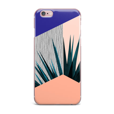 "Cafelab ""Summer Geometry "" Blue Coral iPhone Case - KESS InHouse"