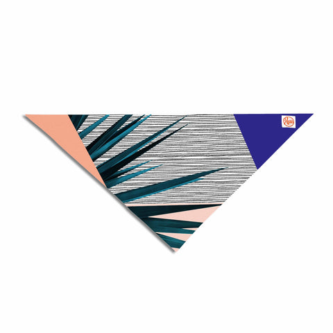 "Cafelab ""Summer Geometry "" Blue Coral Pet Bandana - KESS InHouse  - 1"