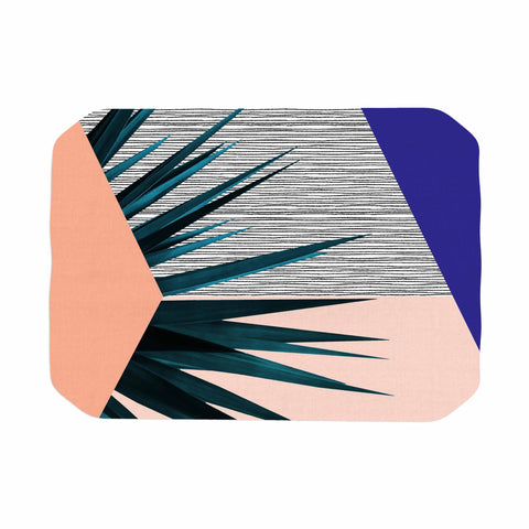 "Cafelab ""Summer Geometry "" Blue Coral Place Mat - KESS InHouse"