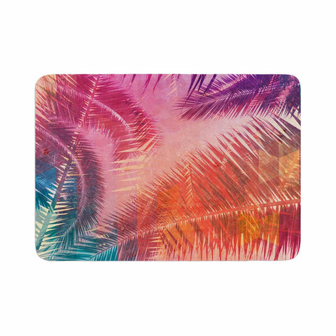 "Cafelab ""Pop Tropical"" Purple Pink Abstract Memory Foam Bath Mat - KESS InHouse"