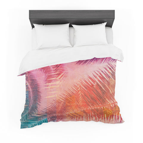 "Cafelab ""Pop Tropical"" Purple Pink Abstract Featherweight Duvet Cover"