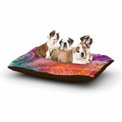 "Cafelab ""Pop Tropical"" Purple Pink Abstract Dog Bed - KESS InHouse  - 1"