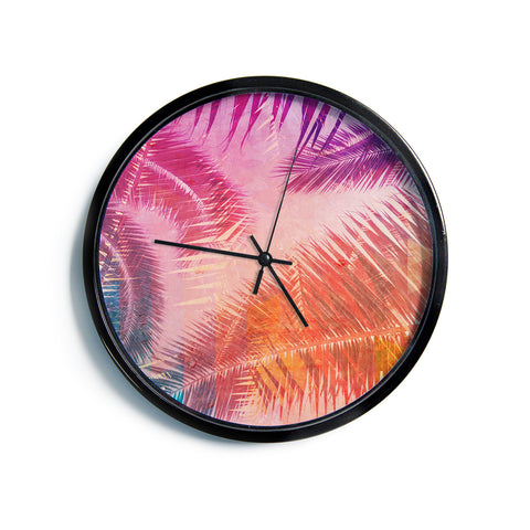 "Cafelab ""Pop Tropical"" Purple Pink Abstract Modern Wall Clock"