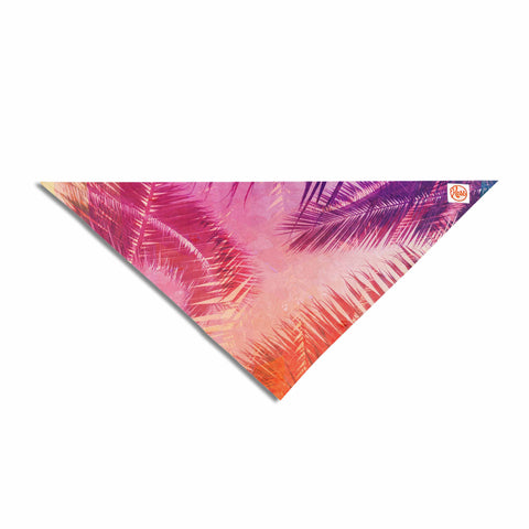 "Cafelab ""Pop Tropical"" Purple Pink Abstract Pet Bandana - KESS InHouse  - 1"