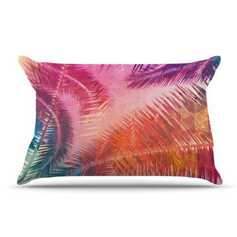 "Cafelab ""Pop Tropical"" Purple Pink Abstract Pillow Sham - KESS InHouse  - 1"