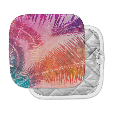 "Cafelab ""Pop Tropical"" Purple Pink Abstract Pot Holder"