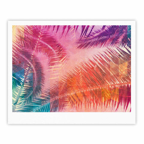 "Cafelab ""Pop Tropical"" Purple Pink Abstract Fine Art Gallery Print - KESS InHouse"