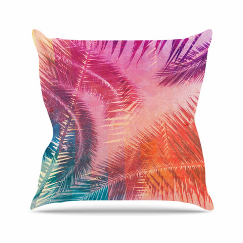 "Cafelab ""Pop Tropical"" Purple Pink Abstract Outdoor Throw Pillow - KESS InHouse  - 1"
