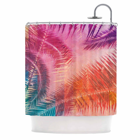 "Cafelab ""Pop Tropical"" Purple Pink Abstract Shower Curtain - KESS InHouse"
