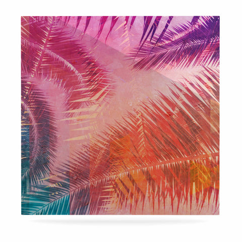 "Cafelab ""Pop Tropical"" Purple Pink Abstract Luxe Square Panel - KESS InHouse  - 1"