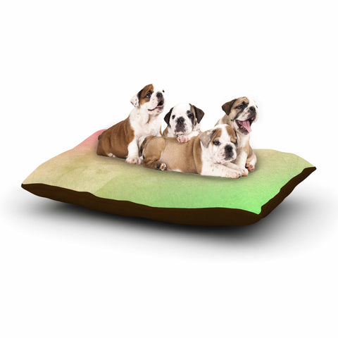 "Cafelab ""Greenery And Pink"" Green Pink Watercolor Dog Bed"