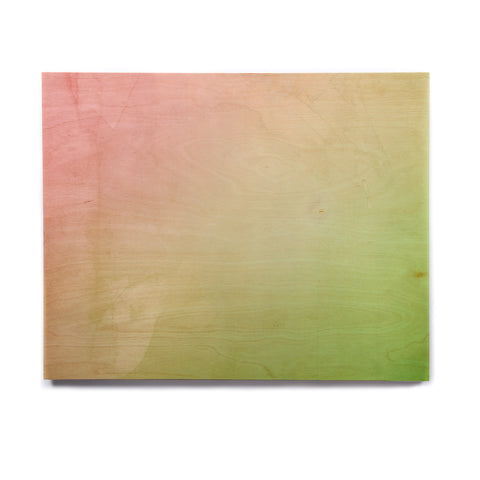 "Cafelab ""Greenery And Pink"" Green Pink Watercolor Birchwood Wall Art - KESS InHouse  - 1"