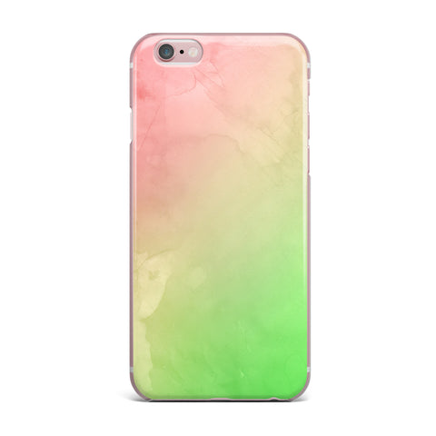 "Cafelab ""Greenery And Pink"" Green Pink Watercolor iPhone Case"