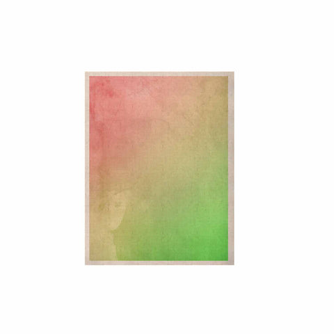 "Cafelab ""Greenery And Pink"" Green Pink Watercolor KESS Naturals Canvas (Frame not Included)"
