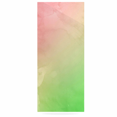 "Cafelab ""Greenery And Pink"" Green Pink Watercolor Luxe Rectangle Panel"