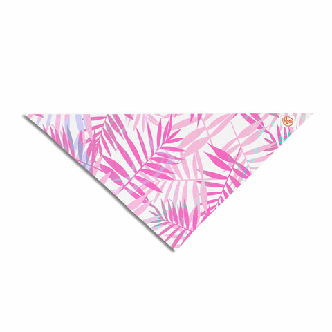 "Cafelab ""Pastel Palm Leaves"" Pink Purple Illustration Pet Bandana"