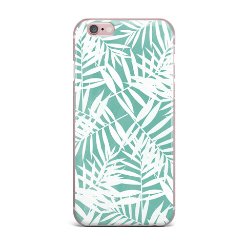 "Cafelab ""Water Tropicana Theme"" Teal White Illustration iPhone Case"