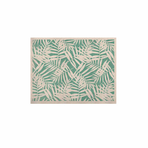 "Cafelab ""Water Tropicana Theme"" Teal White Illustration KESS Naturals Canvas (Frame not Included)"