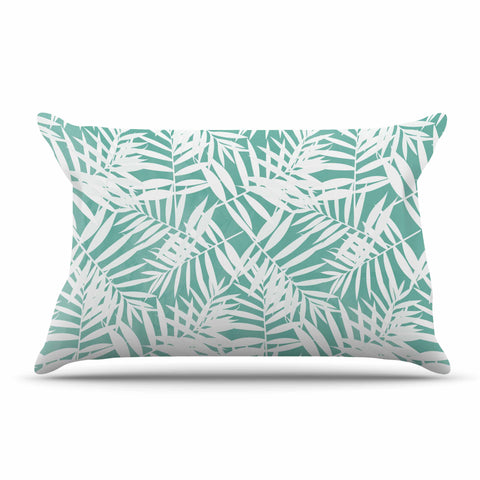 "Cafelab ""Water Tropicana Theme"" Teal White Illustration Pillow Sham"